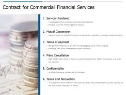 Contract For Commercial Financial Services Ppt Powerpoint Presentation Outline Background