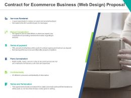 Contract For Ecommerce Business Web Design Proposal Ppt Powerpoint Presentation Infographic Template Infographics
