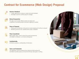 Contract For Ecommerce Web Design Proposal Ppt Powerpoint Presentation Example