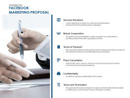 Contract For Facebook Marketing Proposal Ppt Powerpoint Brochure