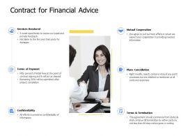 Contract For Financial Advice Plans Cancellation Ppt Powerpoint Presentation