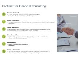 Contract For Financial Consulting Cooperation Ppt Powerpoint Presentation File