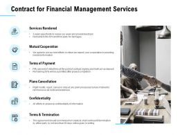 Contract For Financial Management Services Ppt Powerpoint Presentation Pictures Templates