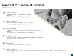 Contract For Financial Services Ppt Powerpoint Presentation Outline Gridlines