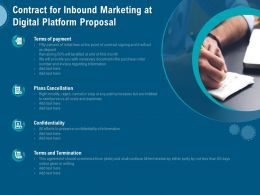 Contract For Inbound Marketing At Digital Platform Proposal Ppt Styles Graphics