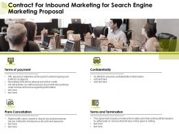 Contract For Inbound Marketing For Search Engine Marketing Proposal Ppt Guide