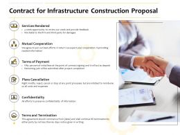 Contract For Infrastructure Construction Proposal Ppt Powerpoint Show Themes