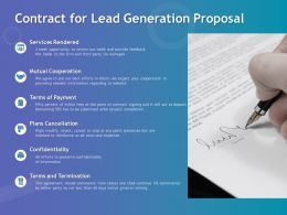 Contract For Lead Generation Proposal Ppt Powerpoint Presentation Topics