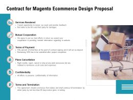 Contract For Magento Ecommerce Design Proposal Ppt Powerpoint Presentation Portfolio