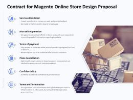 Contract For Magento Online Store Design Proposal Ppt Powerpoint Templates
