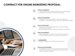 Contract For Online Marketing Proposal Confidentiality Ppt Powerpoint Slides