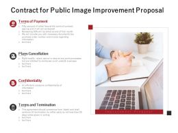 Contract For Public Image Improvement Proposal Ppt Powerpoint Presentation File