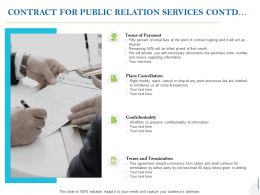 Contract For Public Relation Services Contd Ppt Powerpoint Presentation