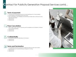 Contract For Publicity Generation Proposal Services Contd Ppt Powerpoint Presentation Inspiration