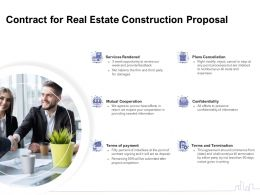 Contract For Real Estate Construction Proposal Ppt Powerpoint Presentation Outline Design Templates