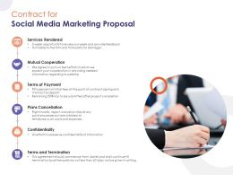 Contract For Social Media Marketing Proposal Ppt Powerpoint Presentation Professional Diagrams