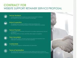 Contract For Website Support Retainer Service Proposal Ppt Design