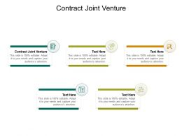 Contract Joint Venture Ppt Powerpoint Presentation Show Graphics Tutorials Cpb