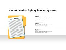 Contract Letter Icon Depicting Terms And Agreement