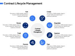 Contract Lifecycle Management M3068 Ppt Powerpoint Presentation Inspiration Vector