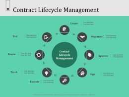 Contract Lifecycle Management N575 Ppt Powerpoint Presentation Objects