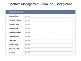 Contract Management Form Ppt Background