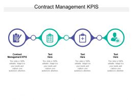 Contract Management KPIS Ppt Powerpoint Presentation File Pictures Cpb