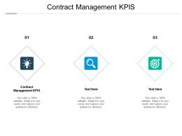 Contract Management KPIS Ppt Powerpoint Presentation Outline Background Images Cpb