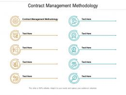Contract Management Methodology Ppt Powerpoint Presentation Layouts Example File Cpb