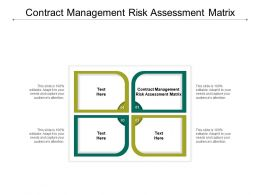 Contract Management Risk Assessment Matrix Ppt Powerpoint Presentation Model Design Ideas Cpb