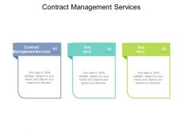 Contract Management Services Ppt Powerpoint Presentation File Design Inspiration Cpb