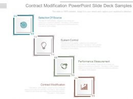 Contract Modification Powerpoint Slide Deck Samples