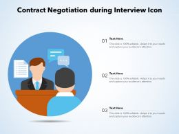Contract Negotiation During Interview Icon
