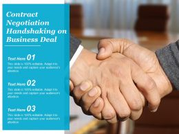 Contract Negotiation Handshaking On Business Deal