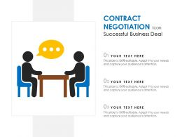 Contract Negotiation Icon Successful Business Deal