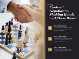 Contract Negotiation Shaking Hands And Chess Board