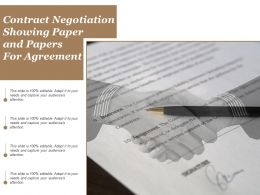 Contract Negotiation Showing Paper And Papers For Agreement