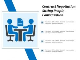 Contract Negotiation Sitting People Conversation