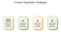 Contract Negotiation Strategies Ppt Powerpoint Presentation Portfolio Tips Cpb
