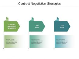 Contract Negotiation Strategies Ppt Powerpoint Presentation Professional Shapes Cpb