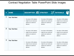Contract Negotiation Table Powerpoint Slide Images