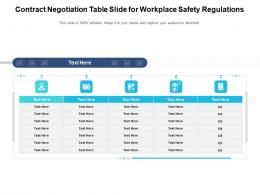 Contract Negotiation Table Slide For Workplace Safety Regulations Infographic Template