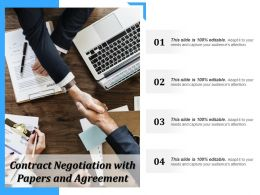 Contract Negotiation With Papers And Agreement