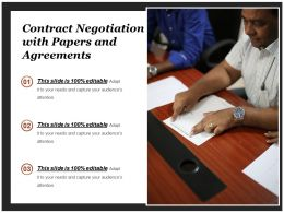 Contract Negotiation With Papers And Agreements