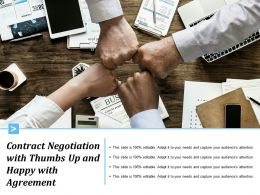 Contract Negotiation With Thumbs Up And Happy With Agreement