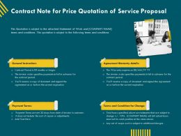 Contract Note For Price Quotation Of Service Proposal Ppt Gallery