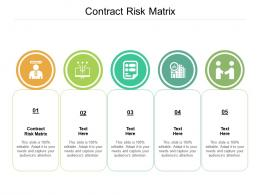 Contract Risk Matrix Ppt Powerpoint Presentation Gallery Icons Cpb