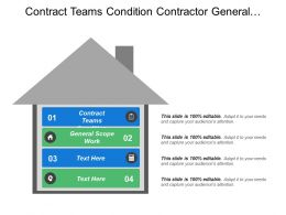 Contract Teams Condition Contractor General Requirements General Scope Work