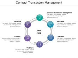 Contract Transaction Management Ppt Powerpoint Presentation Pictures Show Cpb