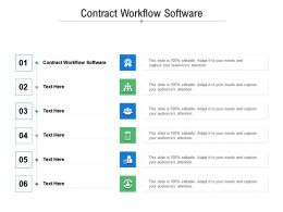 Contract Workflow Software Ppt Powerpoint Presentation File Ideas Cpb